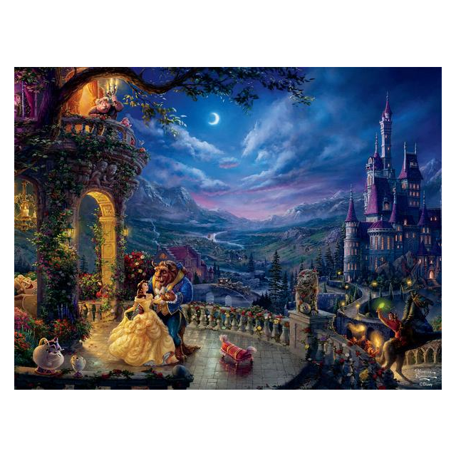 Thomas Kinkade: Disney - Beauty and the Beast Dancing ...