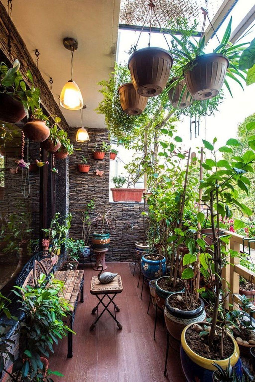 49 Pretty Small Terrace Design Ideas Small Balcony Garden