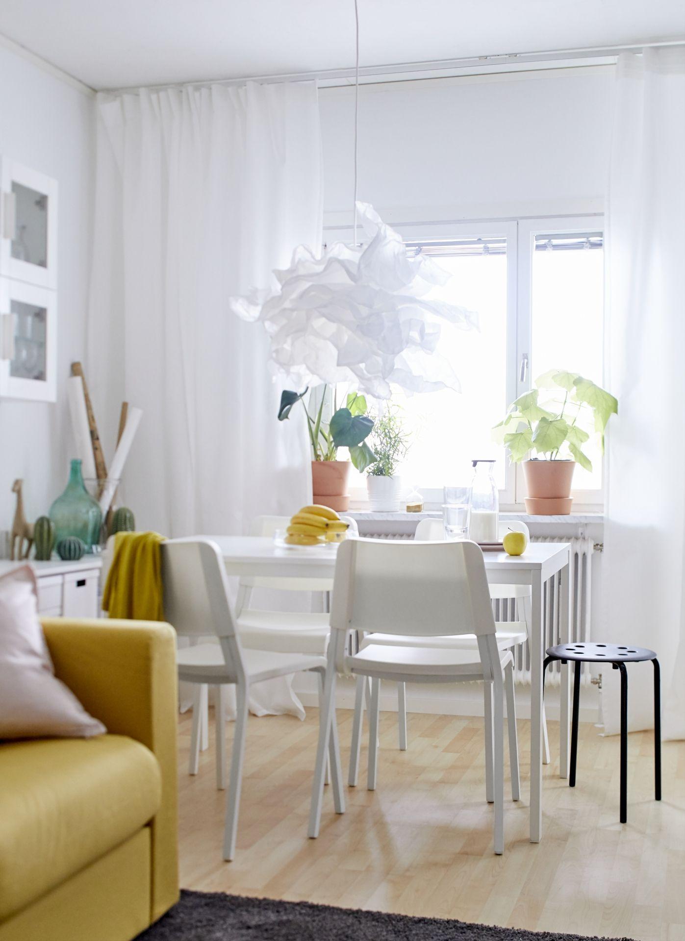 Ikea Salon Tafel Wit.Teodores Eetkamerstoel Wit In 2019 Table Ikea Living
