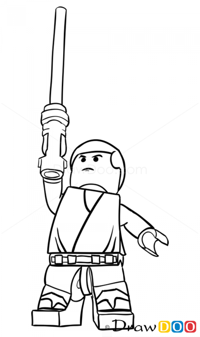 How to Draw Luke Skywalker, Lego Starwars | lego star wars | Pinterest