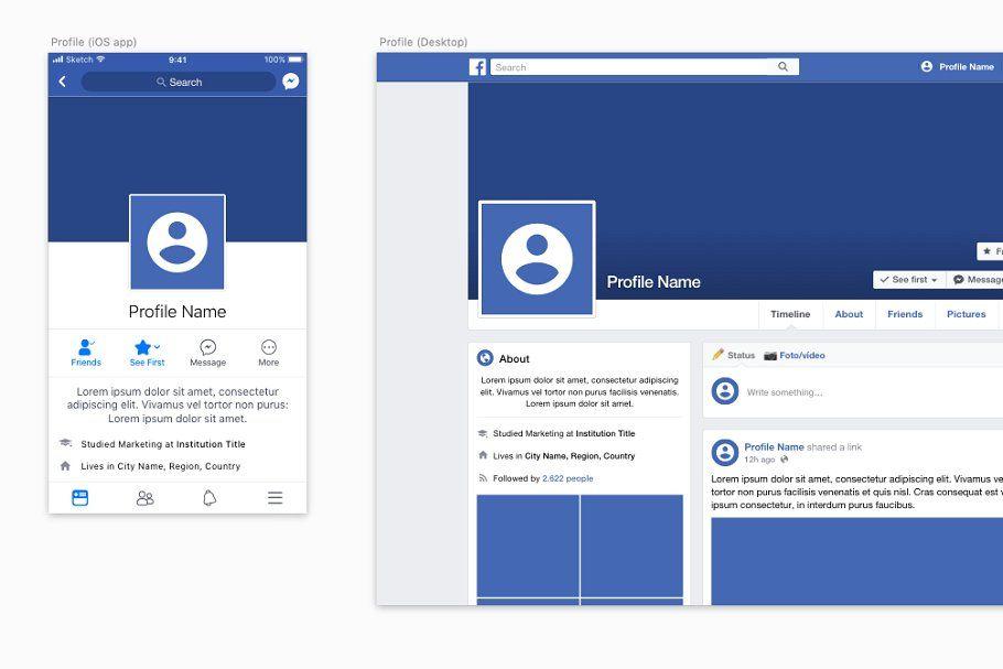 Facebook Branding Kit Branding Kit Facebook Templates Branding