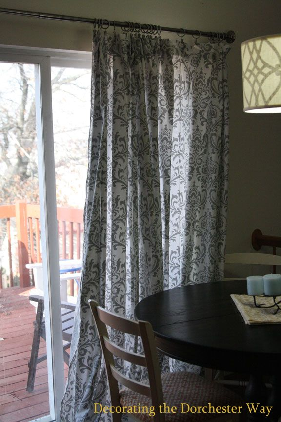 Decorating The Dorchester Way Patio Door Extra Wide Curtains For