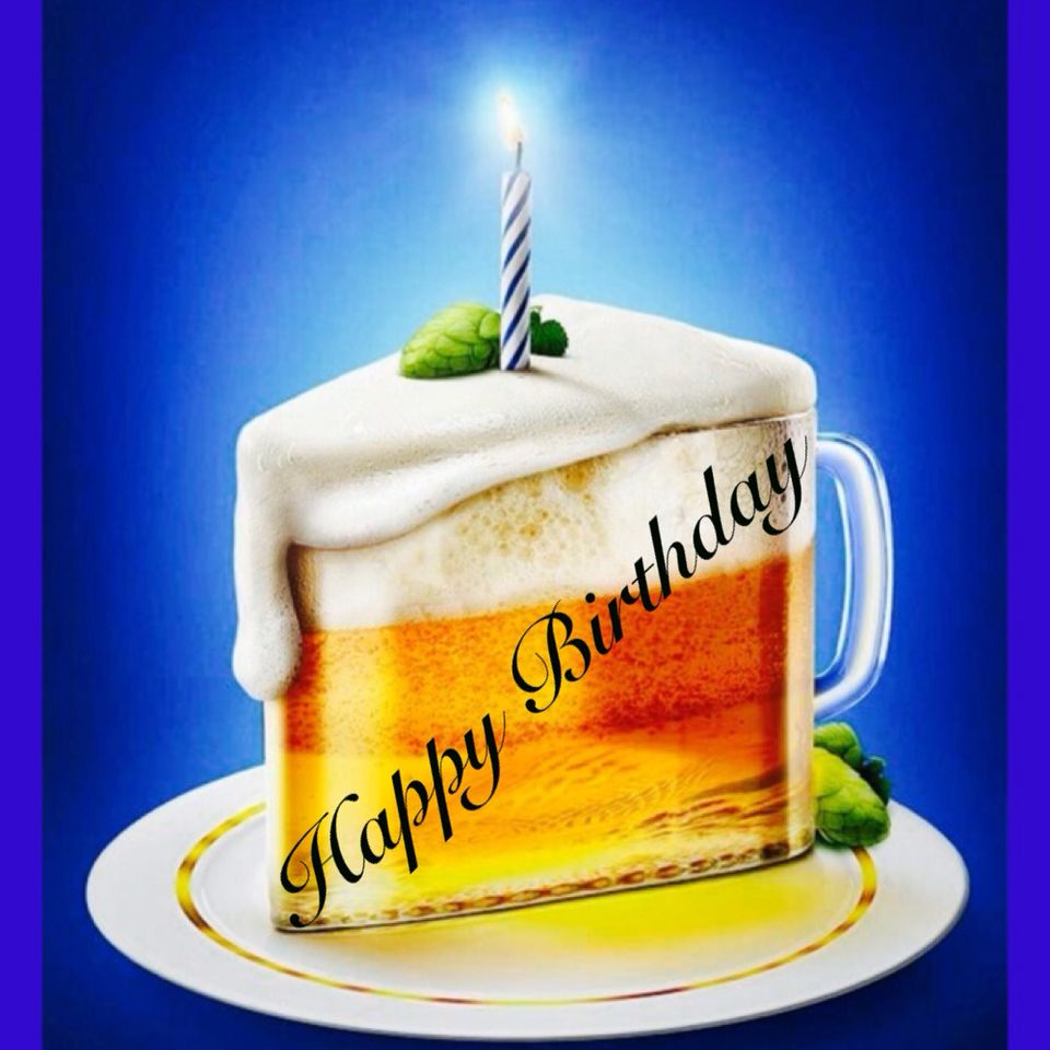 Happy Birthday Beer Glass Cake Birthday Wishes Pinterest Happy