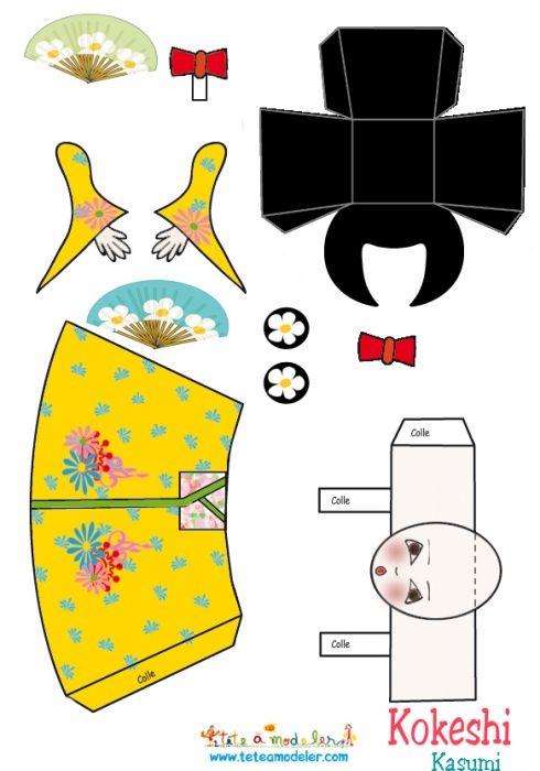 coloriage Kokeshi Kasumi à imprimer