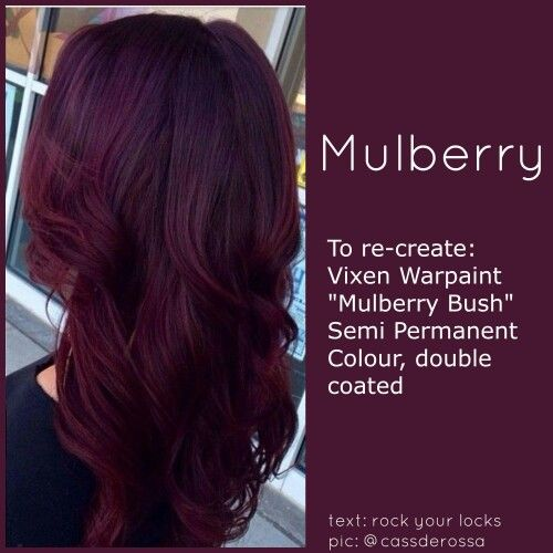 If I Were To Go With A Deep Purplish Shade Of Red This Would Be It Hair Styles Burgundy Hair Hair