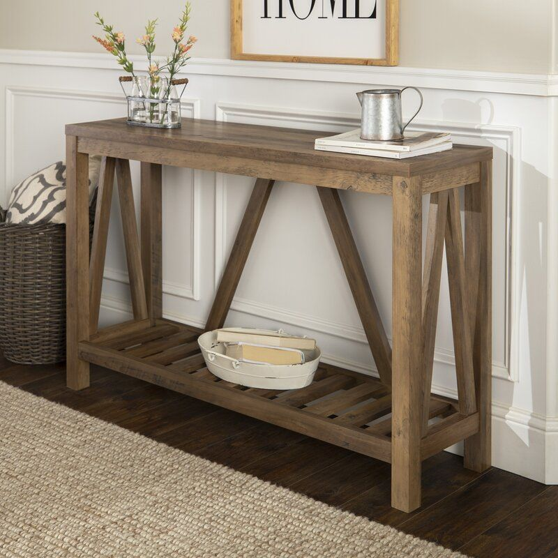 Benfield 52 Console Table In 2020 Entry Console Table Rustic Console Tables Oak Console Table
