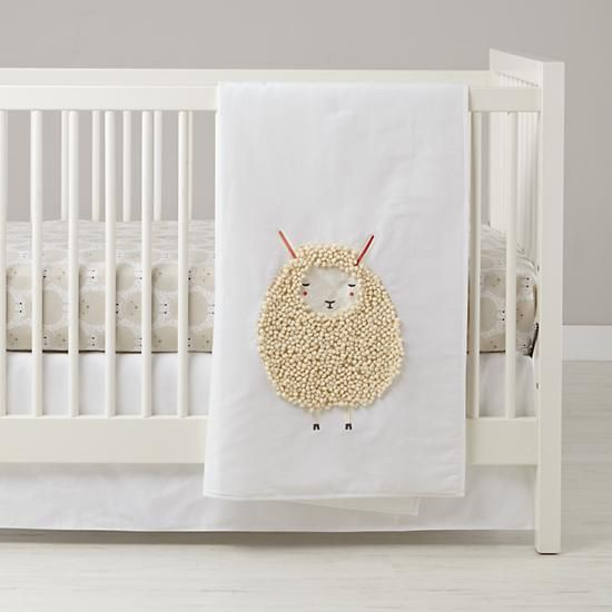Sheepish Sheep Print Crib Bedding