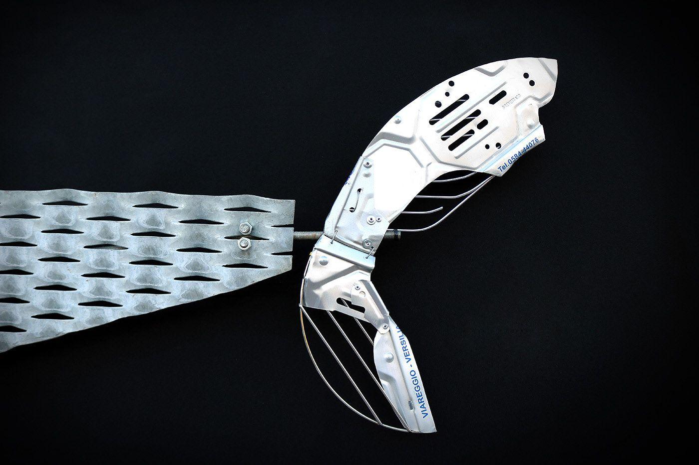 shark wall art metal
