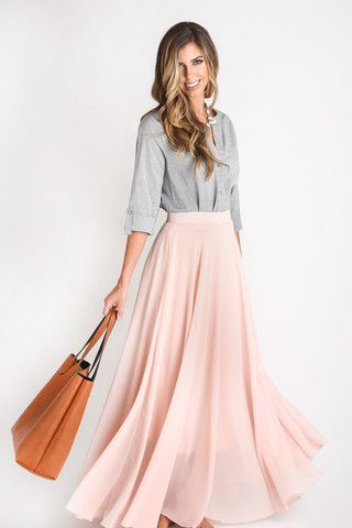 Amelia Full Pink Maxi Skirt | Maxi skirts, Skirts and Mornings