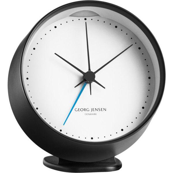 Henning Koppel Hk Clock W Alarm Black White 10 Cm Found On Polyvore Clock Alarm Clock White Clocks