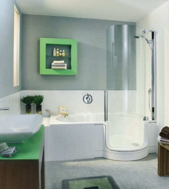 Walk In Tub And Shower Combo | Twin Line | Walk In Bathtub And Shower