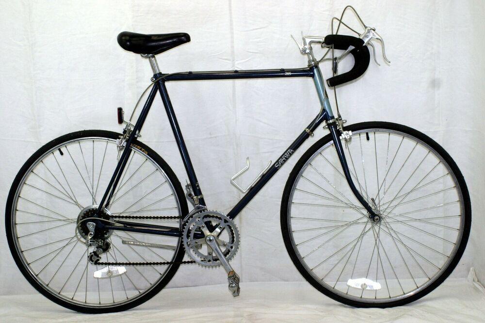 Sanwa 312 Vintage Touring Bike X Large 63cm Sugino Vt Ar Dia Compe Steel Charity Sanwa Touring Bike Touring Road Bike Bike Seat