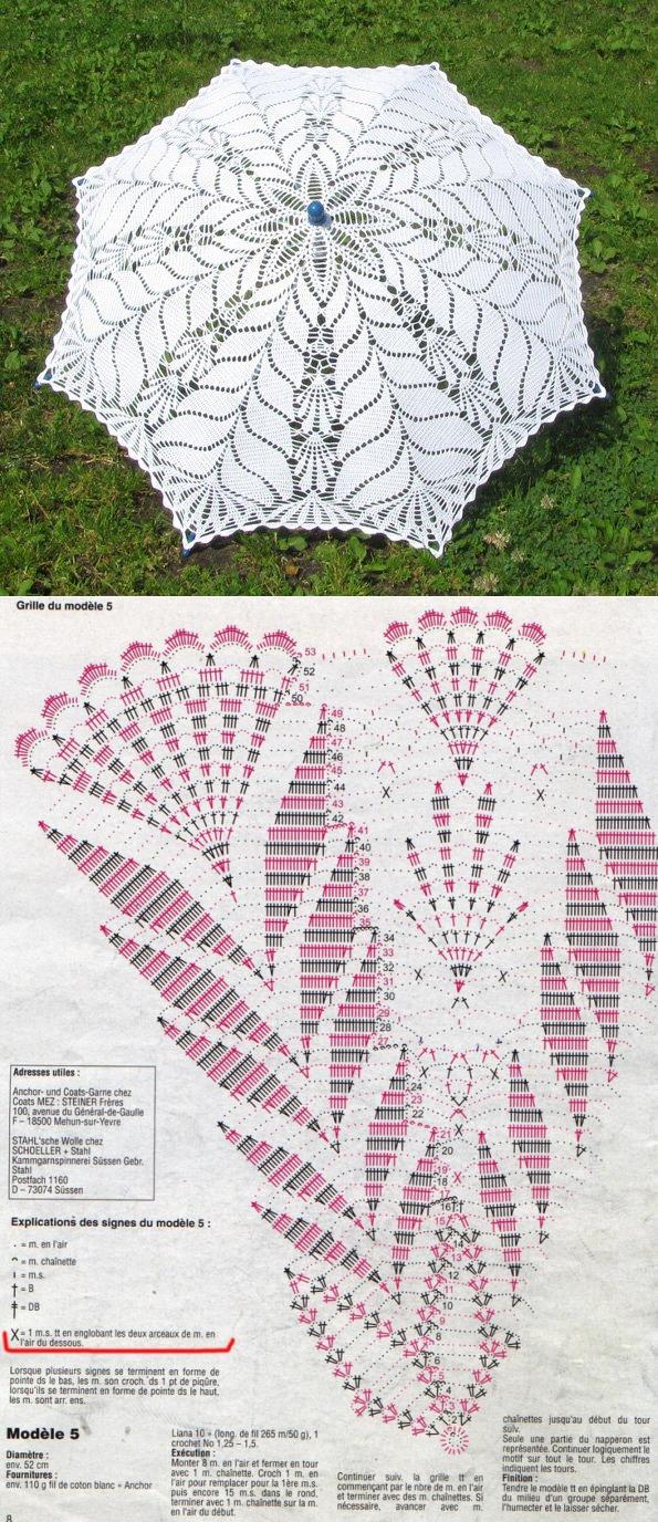 ЗОНТЫ МАК | Crochet y más | Pinterest | Croché, Ganchillo y ...