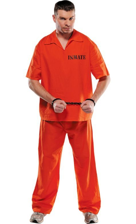 ca25a5a47d85 Jail Bird Prisoner Costume for Adults - Party City