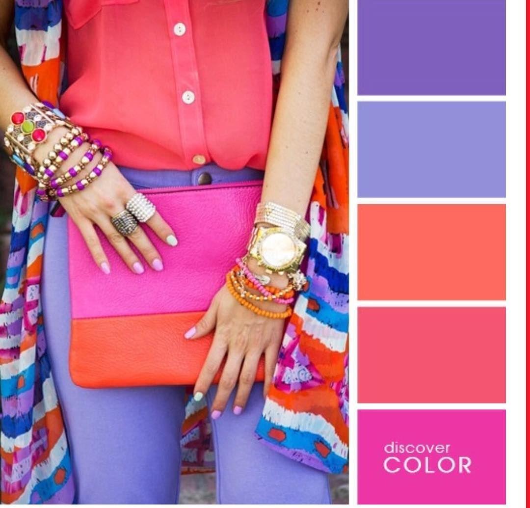 مجموعة من الالوان تستخدموها في تنسيق ملابس صيف بنات الجامعات او حتي السيدات Color Combinations For Clothes Colour Combinations Fashion Color Palette Bright