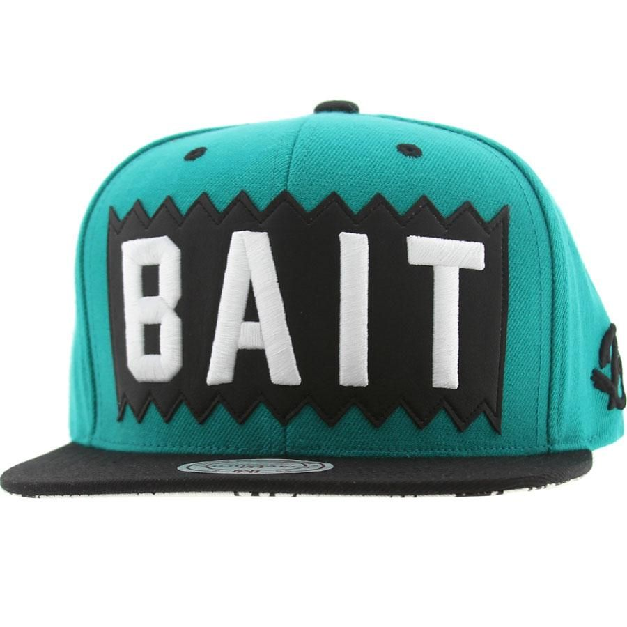 official photos 89294 68d1a BAIT x Mitchell And Ness Box Logo Snapback Cap (turquoise   black)  NQ39Z-171 -  25.99