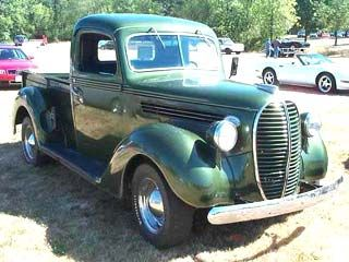 1938 Ford With Side Boards This Forest Green Pick Up Took Cattle