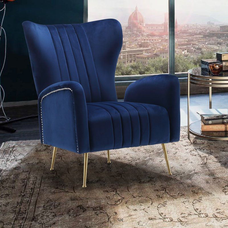 Spady Wingback Chair Lounge Chairs Living Room Velvet Dining
