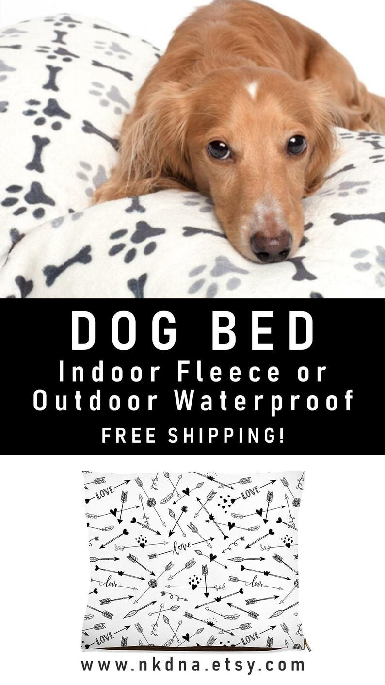 Arrow dog bed, waterproof outdoor, black and white pet