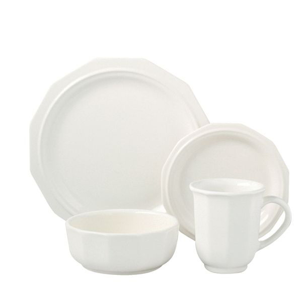 pfaltzgraff heritage solid white 16piece dinnerware set overstock shopping great deals