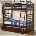 $739.99  Acme Furniture - New Espresso Wood Mission Kids Twin Twin Trundle Bunk Bed - M0157