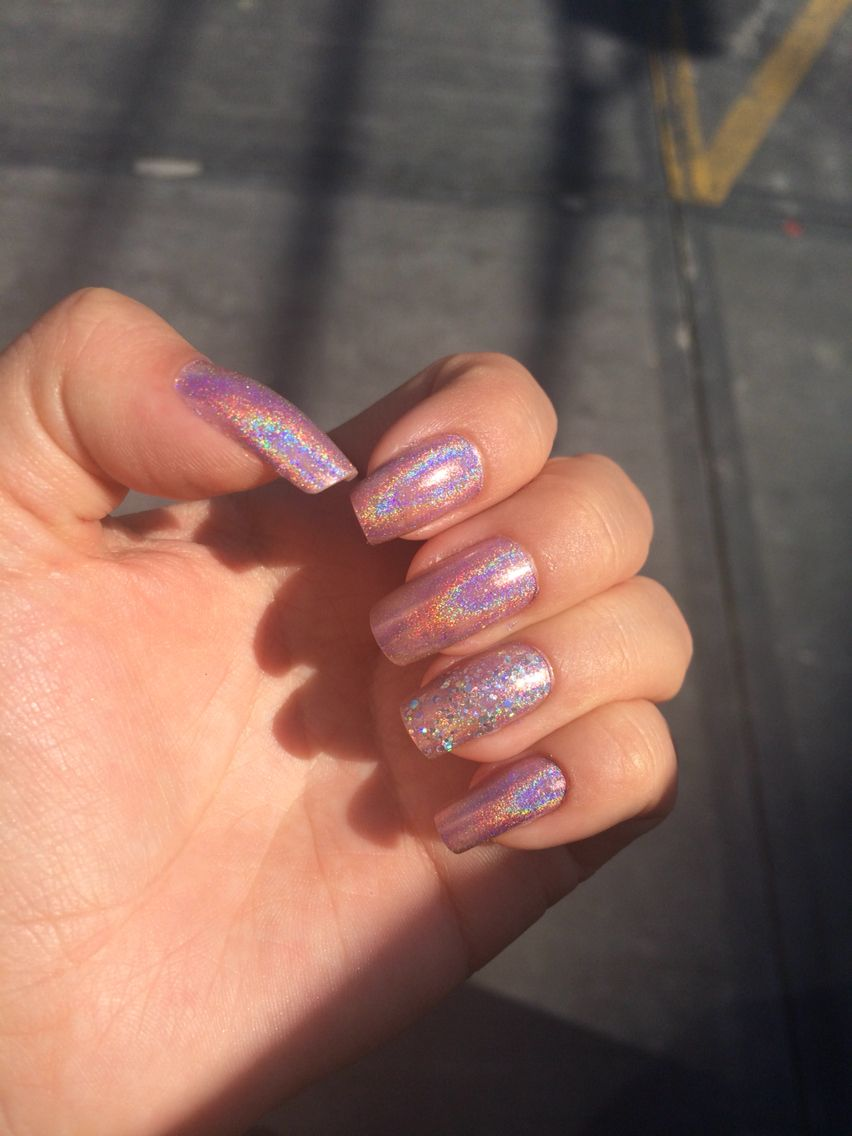 Uñas Tornasol Holo En 2019 Nails Nail Art Y Acrylic Nails