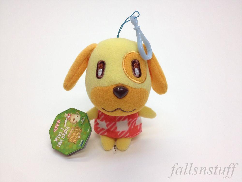 Animal Crossing Plush Keychain Goldie Yellow Stuff Dog W Sound 5