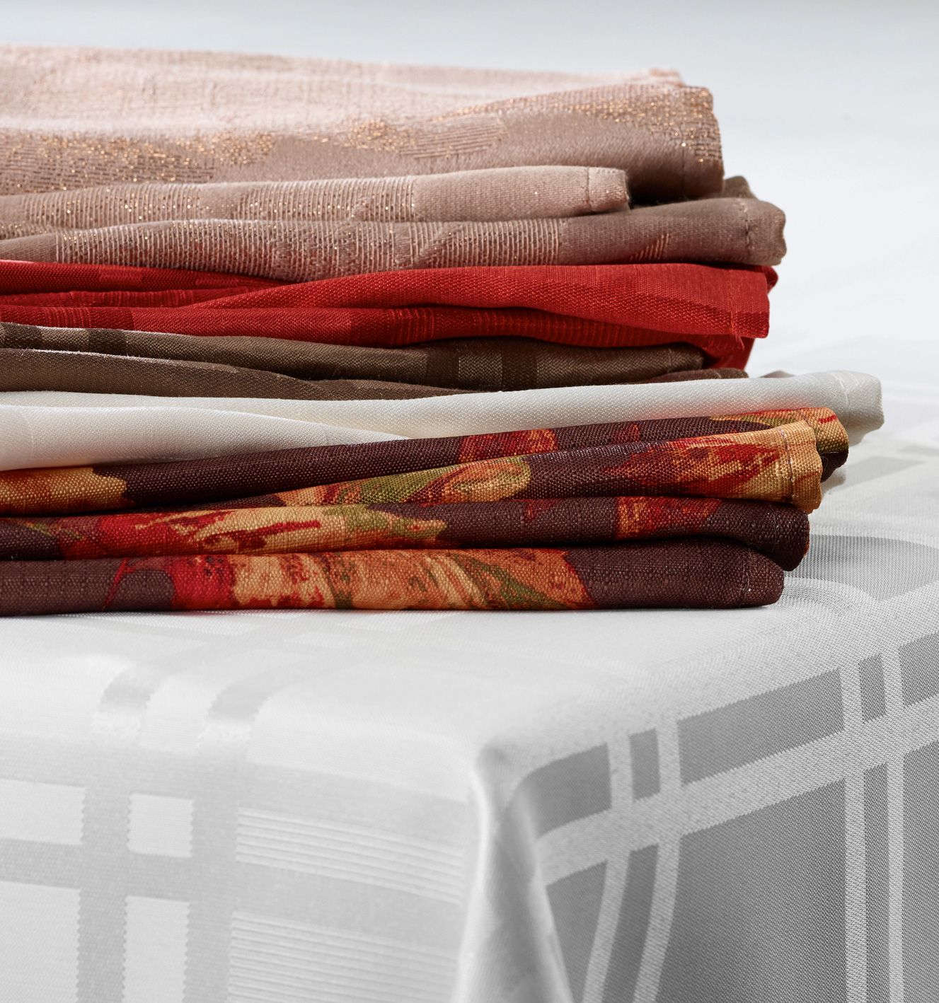 Mix and match napkins with your tablecloth for any event
