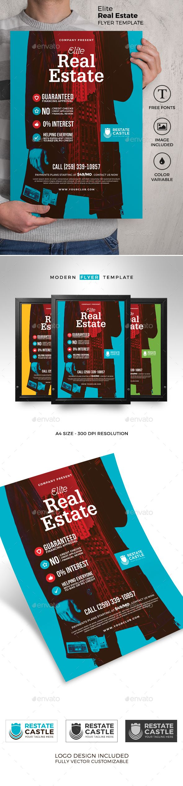 Real Estate Flyer Template Photoshop Psd Offer Sale Download