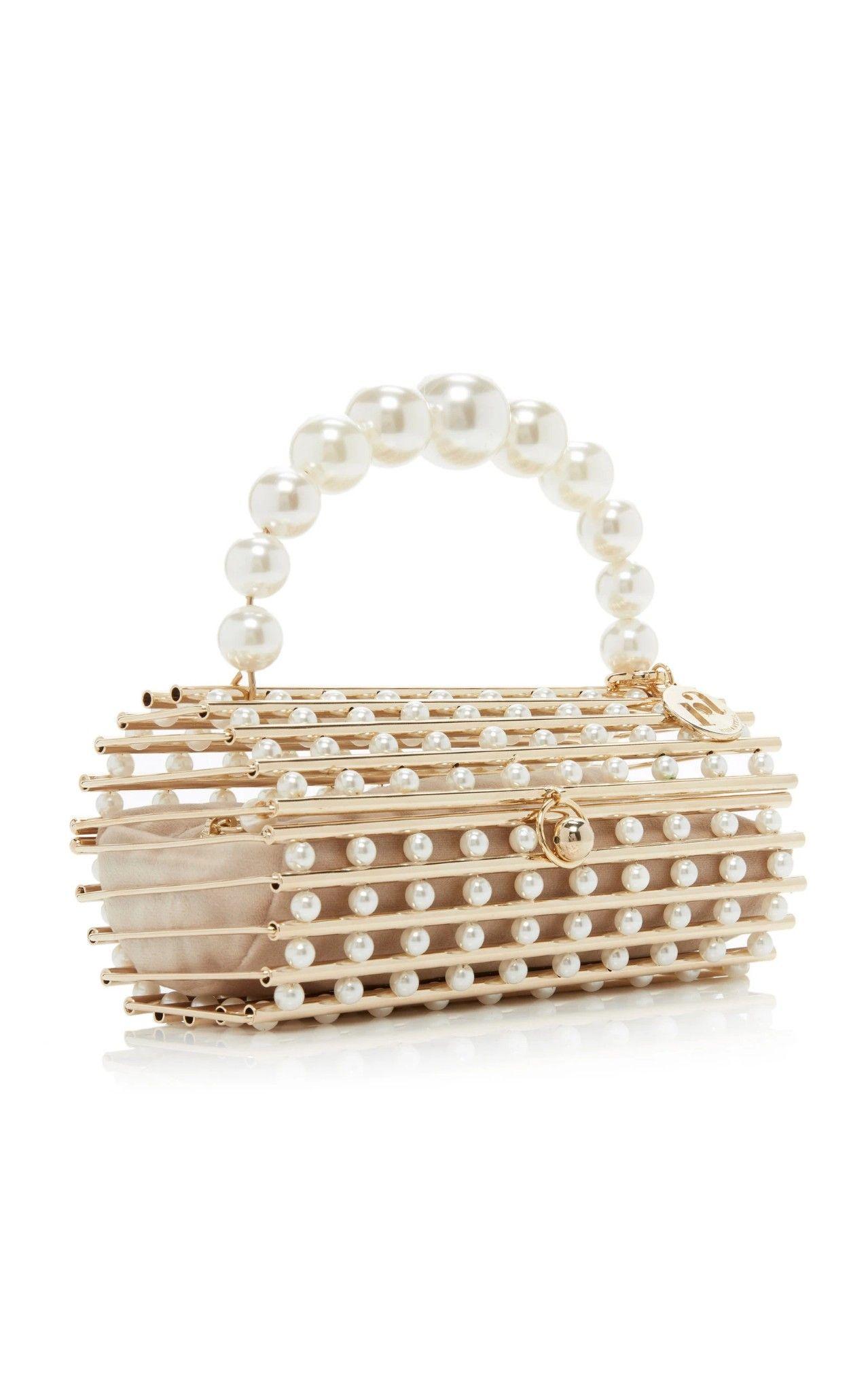 Rosantica Medea Gold Tone Pearl Embellished Top Handle Bag 2020 Boncuklu Cantalar Canta Tasarimi Aksesuarlar