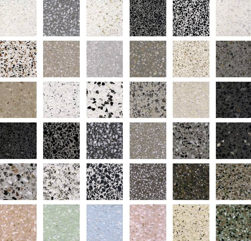One Of The Many Benefits Of Terrazzo Is Colour Choice The