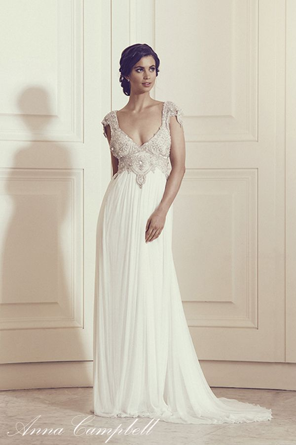 Pin von Anna Campbell Bridal | Vintage Inspired Wedding Dresses auf ...