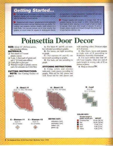 Poinsettia Door Décor * 2/3
