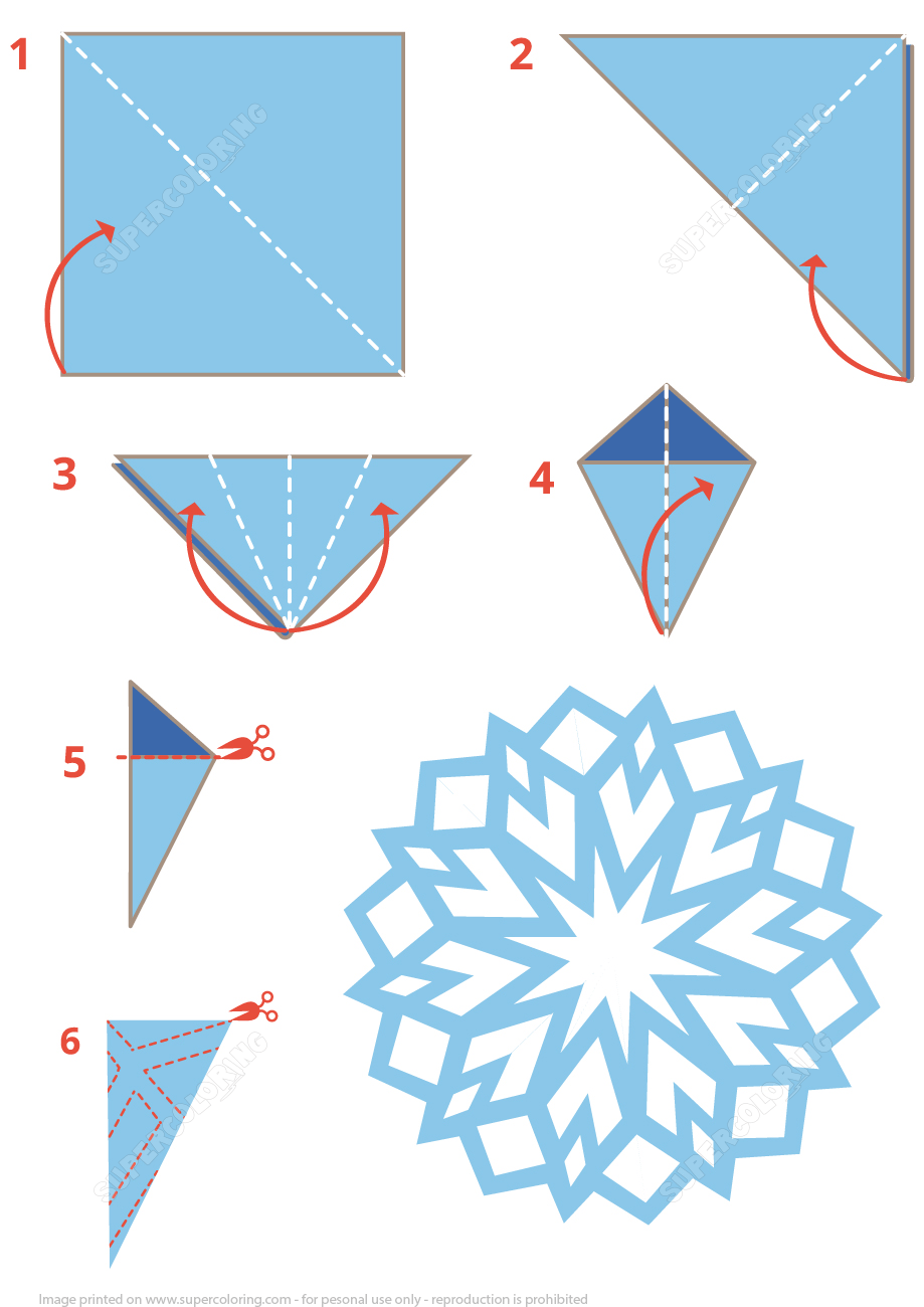 origami snowflake instructions