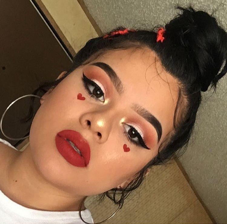 heart egirl makeup