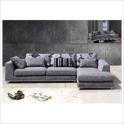 Modern Fabric L-Shape Lounge Suite Cooper : chaise lounge suites - Sectionals, Sofas & Couches