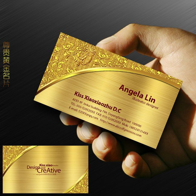 Pin by carlos mao on business card templates download pinterest check out a list of a list of 20 creative and unique golden business cards designs for inspiration colourmoves Images