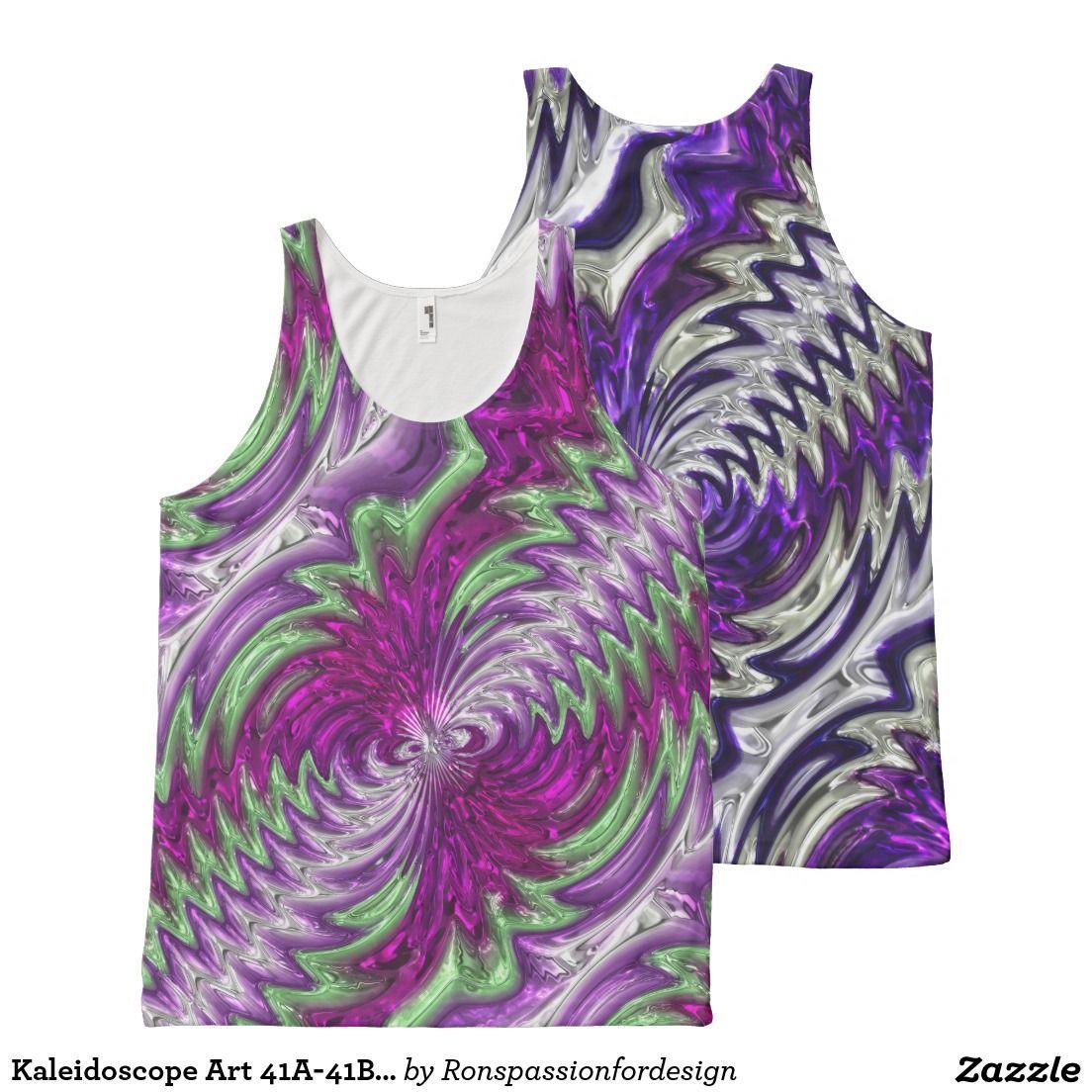 Kaleidoscope Art 41A-41B Options All-Over Print Tank Top