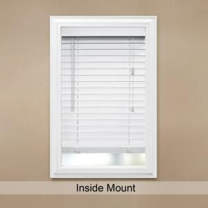 Merveilleux Home Decorators Collection White 2 In. Faux Wood Blind   72 In. W X 64 In.  L (Actual Size 71.5 In. W X 64 In. L )
