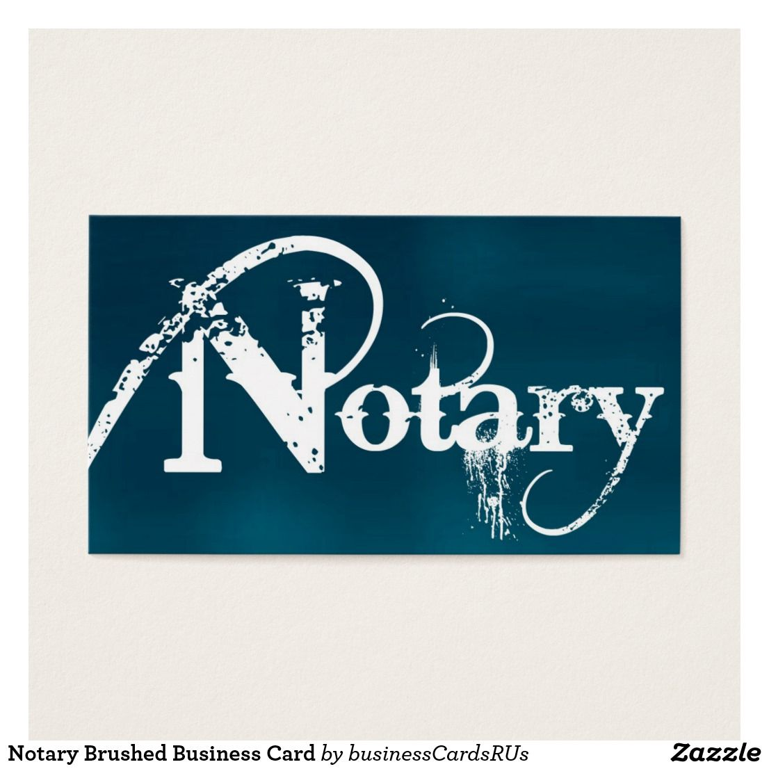 Notary brushed business card business cards and business notary brushed business card custom check out more business card designs at httpzazzlebusinesscreations or at httpzazzle reheart Choice Image