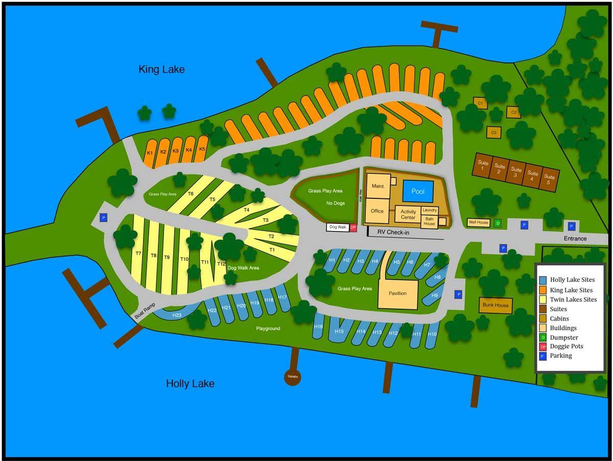 Twin Lakes Campground Map Twin Lakes Campground Map | Camping / RV Hacks | Camping resort