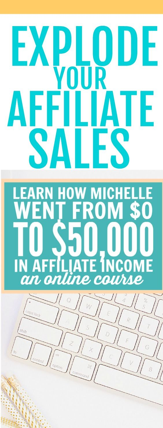 This affiliate marketing course is the best! Michelle knows all about making money through blogging. Learn all the tips and tricks for monetizing your blog. #afflink