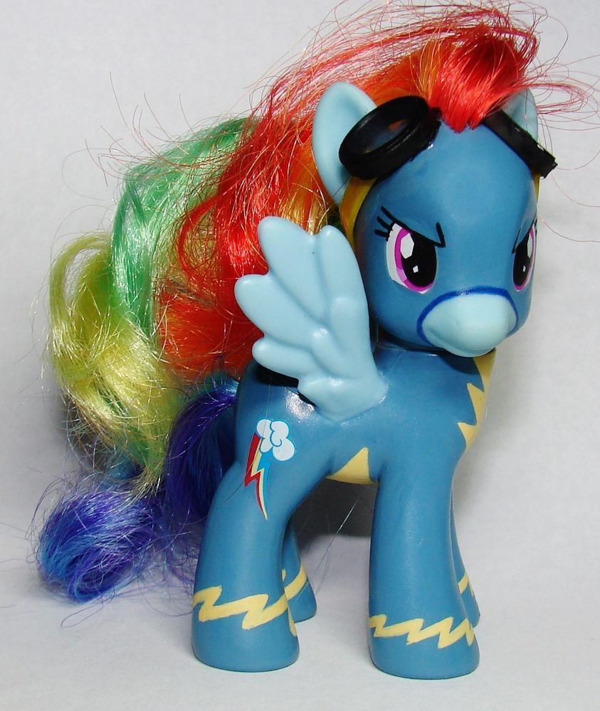 My Little Pony Wonderbolts Rainbow Dash Mlp Fim Ooak Custom Figure G4 Brony Hasbro My Little Pony My Little Pony Rainbow Dash