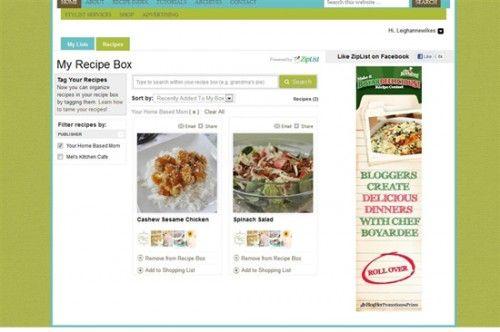 Create Your Own Recipe Box with Ziplist