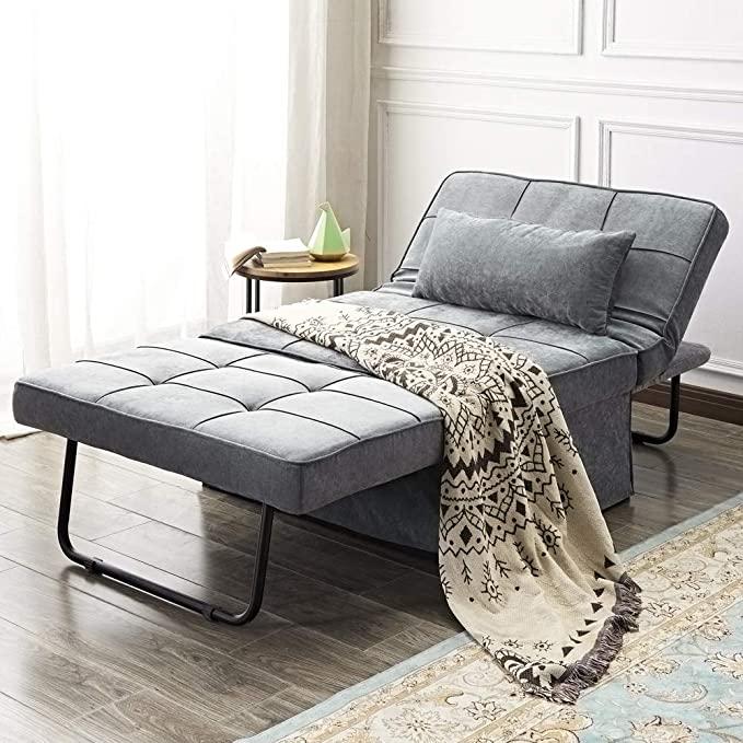 Vonanda Ottoman Folding Chair Bed, Modern