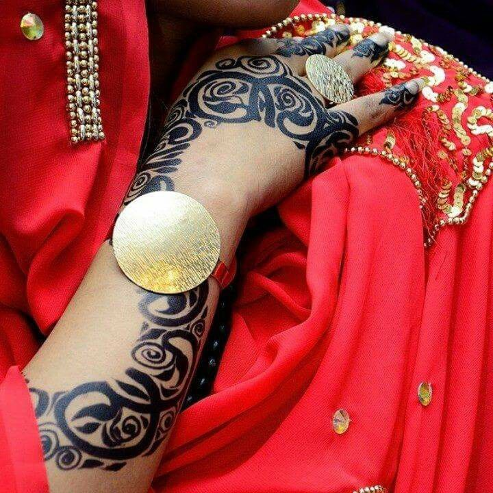 حنة عروس سودانية Henna Fashion Bangles