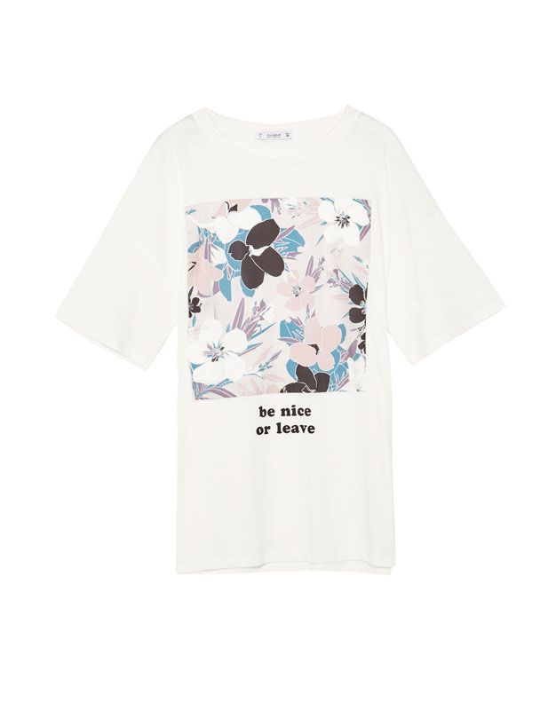 Floral T Shirt With Graphic Print New Woman Pull Bear Turkey Floral Tshirts T Shirt Graphic Prints
