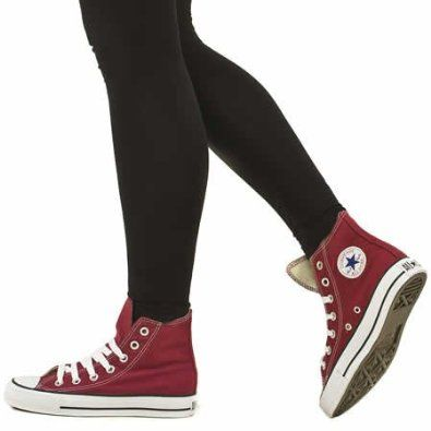 converse hi top burgundy