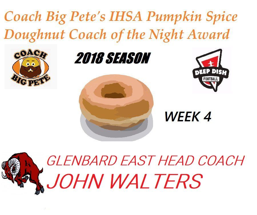 Coach Big Pete S Sunday Conclusion For Week 4 Ihsa Football 2018 Football Dishes Deep Dish