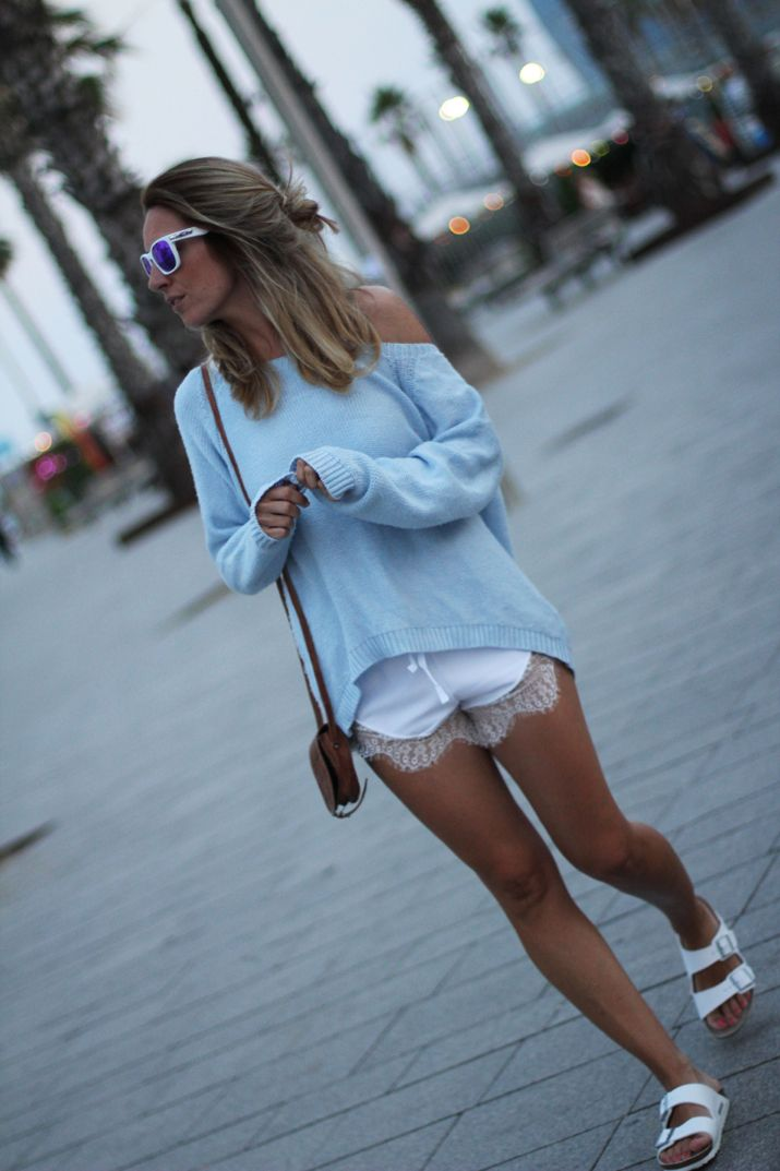 shorts blogger White 1SimpleLook Barcelona10 lace Fashion qVLUSpMzG